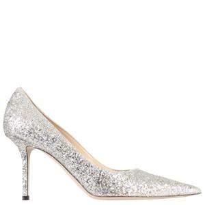 Jimmy Choo Grey Silver Glitter Love 85 Size IT 36