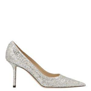 Jimmy Choo Silver Glitter Love 85 Pumps Size EU 38.5
