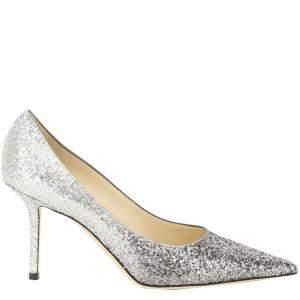 Jimmy Choo Mochi Luminous Glitter Love 85 Pumps Size IT 37