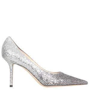 Jimmy Choo Mochi Luminous Glitter Love 85 Pumps Size IT 37.5