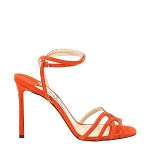 Jimmy Choo Orange Suede Mimi 100 Sandals Size IT 39