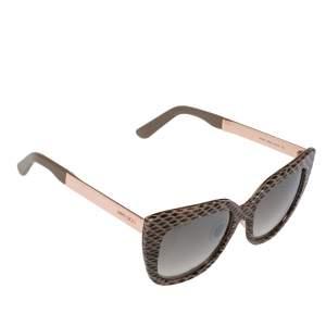 Jimmy Choo Beige Leather/Brown Gradient Nita/S Cat Eye Sunglasses