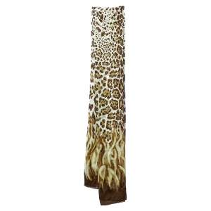 Jimmy Choo Brown Leopard Print Silk Stole
