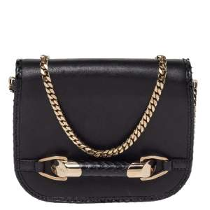 Jimmy Choo Black Leather Zadie Crossbody Bag