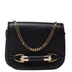 Jimmy Choo Black Leather and Python Zadie Crossbody Bag