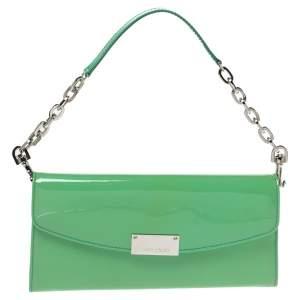 Jimmy Choo Light Green Patent Leather Riane Clutch Bag