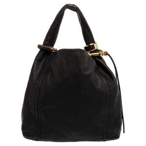 Jimmy Choo Black Leather Solar Hobo
