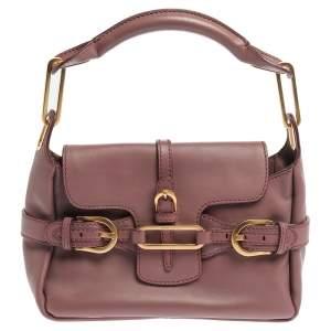 Jimmy Choo Dusty Grape Leather Tulita Shoulder Bag