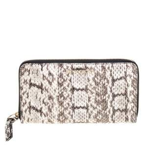 Jimmy Choo Snakeskin Pippa Zip Around Wallet