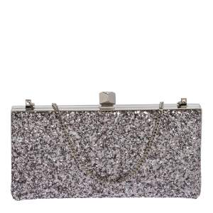 Jimmy Choo Light Lilac Coarse Glitter Celeste Clutch