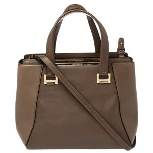 Jimmy Choo Dark Brown Leather Alfie Tote