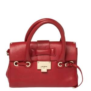 Jimmy Choo Red Leather Rosalie Satchel