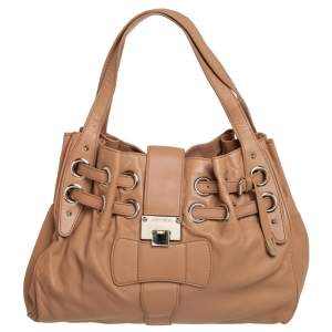 Jimmy Choo Beige Leather Ramona Shoulder Bag