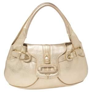 Jimmy Choo Gold Leather  Talia Hobo