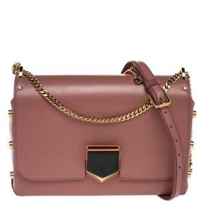 Jimmy Choo Beige Leather Lockett City Shoulder Bag