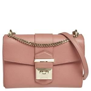 Jimmy Choo Pink Leather XB Marianne Shoulder Bag