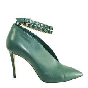 Jimmy Choo Green Leather Lark   Boots