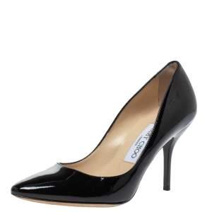 Jimmy Choo Black Patent Leather Emi Pumps Size 36