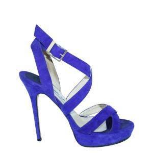 Jimmy Choo Purple Suede   Sandals Size 38