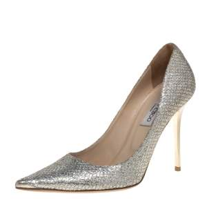 Jimmy Choo Metallic Glitter Abel Pointed Toe Pumps Size 40