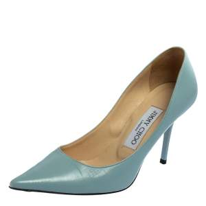 Jimmy Choo Blue Leather Anouk Pumps Size 35
