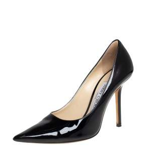 Jimmy Choo Black Patent Leather Pumps Size 36