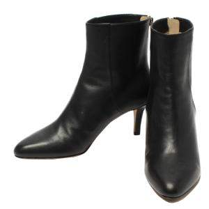Jimmy Choo Black Leather Ankle Boots Size EU 35.5