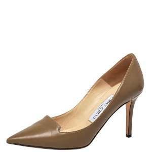 Jimmy Choo Brown Leather Avril Pumps Size 35