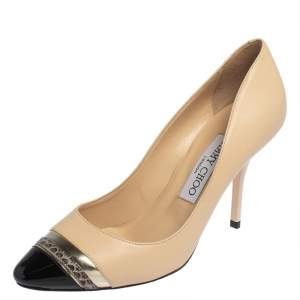 Jimmy Choo Tri Tone Leather Limit Pumps Size 36