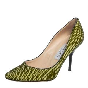 Jimmy Choo Black/Yellow Rubber Pumps Size 37.5