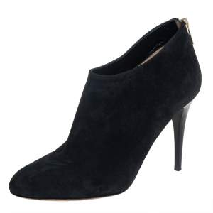 Jimmy Choo Black Suede Ankle Boots Size 40