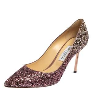 Jimmy Choo Metallic Glitter Romy Pointed Toe Pumps Size 41