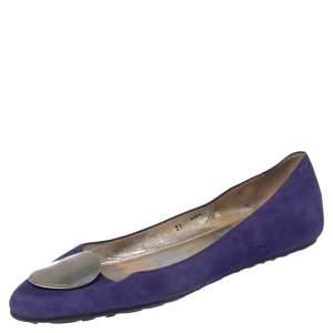 Jimmy Choo Purple Suede Wray Ballet Flats Size 39