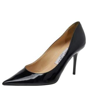 Jimmy Choo Black Patent Leather Romy Pointed Toe Pumps Size 36