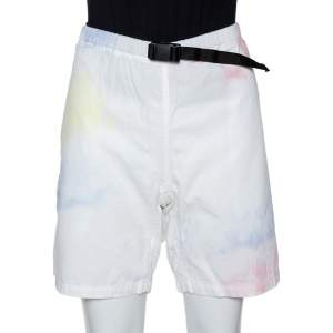 John Elliott Multicolor Ink Bloom Tie Dye Cotton Mountain Shorts S