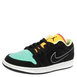 Nike Jordan 1 Multicolor Nubuck Leather Low SE Sneakers Size 42