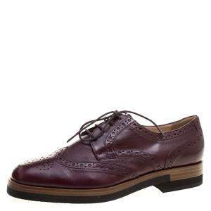 Joseph Burgundy Brogue Leather Derby Size 39