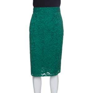 Joseph Green Sixty Floral Lace Pencil Skirt L