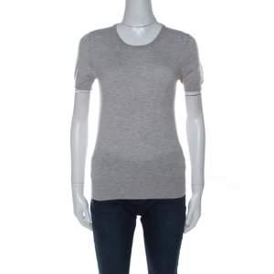 Joseph Grey Cashair Cashmere Knitted T-Shirt M