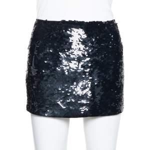 تنورة ميني جوزيف ترتر أسود مزخرف مقاس متوسط - ميديوم