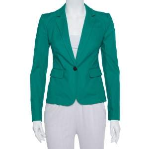 Joseph Green Stretch Cotton Watch Short Blazer S