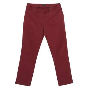 Joseph Burgundy Cotton Chino Pants S