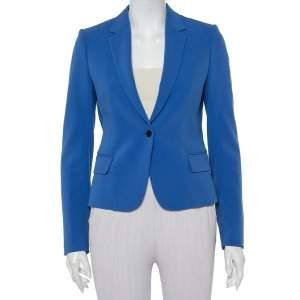 Joseph Blue Crepe Button Front Jazz Blazer S