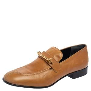Joseph Tan Leather Embellished Slip On Loafers Size 39