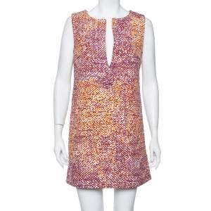 فستان جست كافالي رقبة واسعة كانفاس متعدد الألوان مقاس وسط (ميديوم)