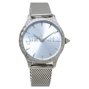 Just Cavalli Silver Stainless Steel Logo JC1L023M0065 Women's Wristwatch 34MM
