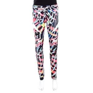 Just Cavalli Multicolor Printed Elasticized Waist Leggings L