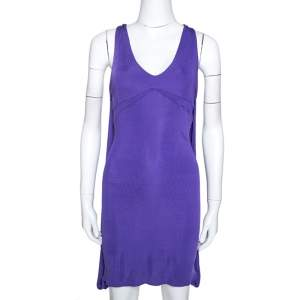 Just Cavalli Purple Stretch Jersey Sleeveless Mini Dress M