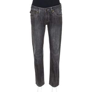 Just Cavalli Black Medium Wash Denim Straight Leg Jeans M