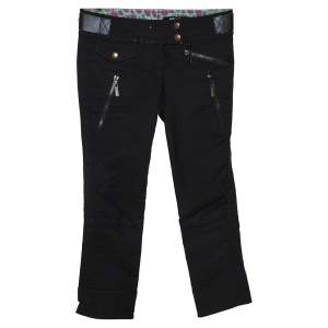 Just Cavalli Black Stretch Cotton Slim Fit Pants S